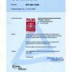 Certyfikat ISO 9001 2015 (EN)