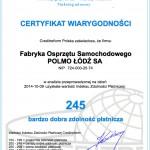 Certyfikat wiarygodności 2014(pl)