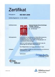 Certyfikat ISO 9001 2015 (DE)