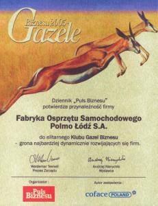 Gazele Biznesu 2005