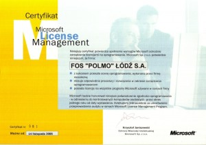 Certyfikat Microsoft