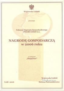 Nagroda Gospodarcza 2006