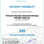 Certificate - Solvency Credibility 2014(en)