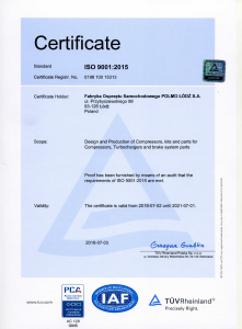 ISO 9001 2015 (2018-2021)