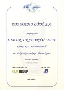 Lider Eksportu 2004
