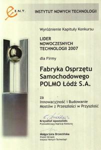 Lider Nowoczesnych Technologii 2007